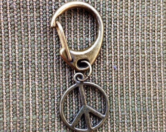 Peace Key Ring - Peace Symbol Key Ring - Peace Symbol Keychain - Peace Keychain
