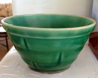 Small Green Windowpane Bowl McCoy?