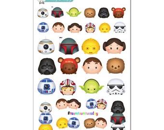 Tsum Tsums Star Wars Stickers - Disney Planner Stickers