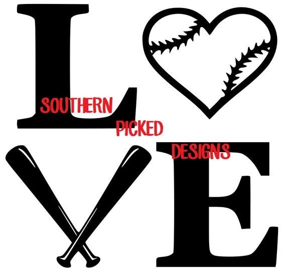 924+ Baseball Love Svg File Best Quality File