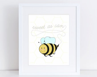 Sweet as Can Bee Wall Art: honeycomb, pattern, spring - LRD008WA
