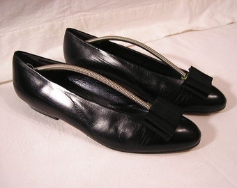 70s Lady sandals with bows / Full Leather / Franco Visconti Italy