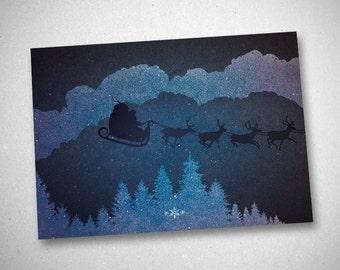 """Christmas greeting card (""""Christmas I - I"""")"""