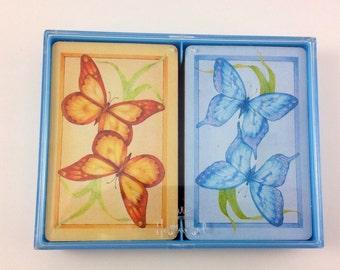 Vintage Hallmark Playing Cards in Plastic Holder