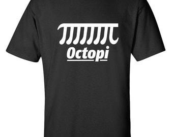 Octopi Funny T-Shirt PS_0116 Novelty Gift T-Shirt Math Nerd Geek Kids Mens Women Fun Crazy Funny Humor T Shirts