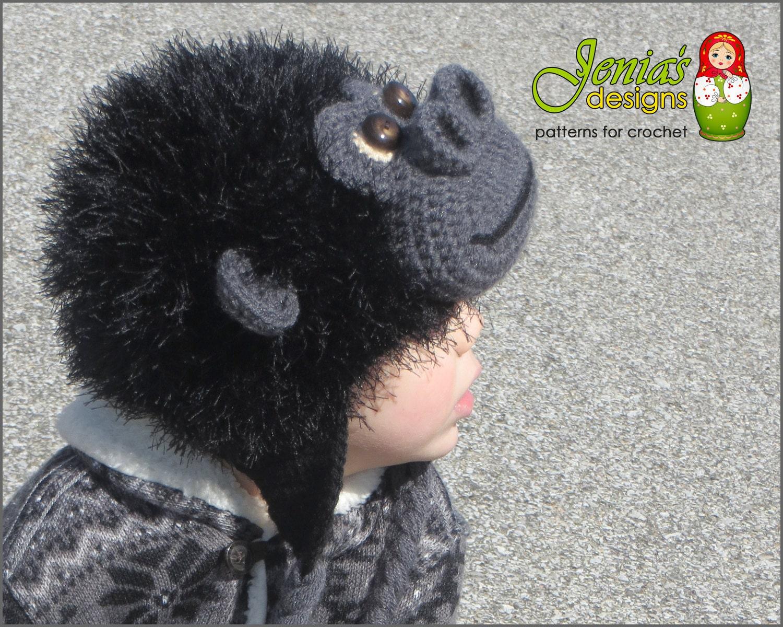 Crochet Pattern Monkey Animal Hat For Baby Toddler Child