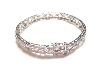 Beautiful design 925 sterling silver bracelet with CZ (B14)