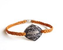 "Sterling Silver ""Adventure"" Bracelet - Handmade Hiker's Bracelet"