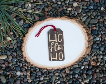 Ho Ho Ho Wooden Tags