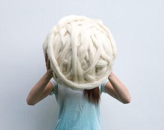 Giant merino wool roving super bulky chunky huge knitting yarn knit