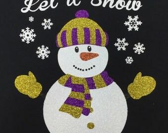 Snowman Glitter Shirt