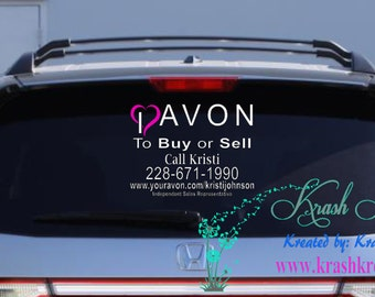 I heart Avon Window decal