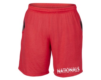 Mens Nationals Shorts Red Sizes Small - 2XL