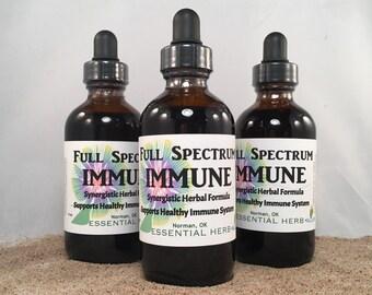 Full Spectrum Immune, Tincture Echinacea, Goldenseal, Myrrh, Antiviral, Antibacterial, Immune Support, Cold Flu Sick