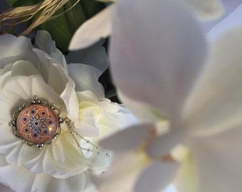 Handpainted mandala necklace