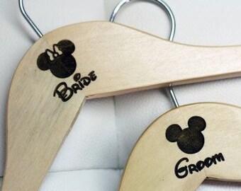 Disney wedding hangers set of 2