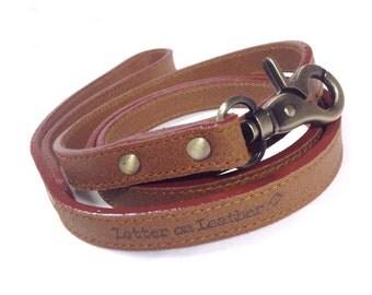 "Brown Leather Leash (""Leash-Me-Brown"")"