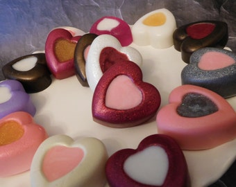 Heart Soaps - Valentines Soap - Valentines Party Favor - Valentines Day - Wedding Shower - Custom Gift - Bath Decor Soap - Guest Soap - 5 pk