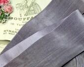 "2"" ~LAVENDER STEEL~ Antique French SILK Rayon Cotton Velvet Ribbon Violet Purple Millinery Hat Trim Cocarde Millinery Flower Work Vintage"