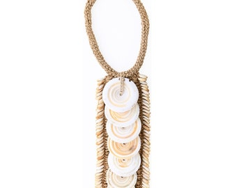 Money Cowrie/Toea Shell Necklace - loose, mounted, framed
