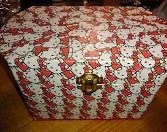 Hello Kitty Decoupaged Jewelry Box