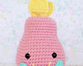 Custom Crochet Pear