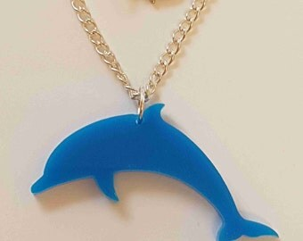 Dolphin Necklace - Acrylic