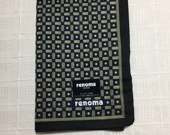 Vintage Men's Handkerchief Renoma from Japan