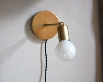 Adjustable wall lamp - Alice - Clean Modern Brass Sconce