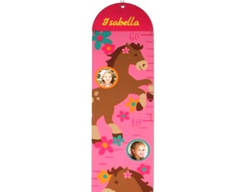 Personalized Photo Growth Chart - Horses