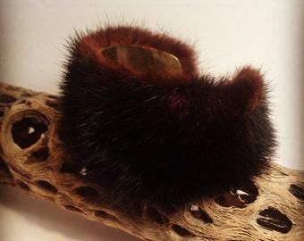 Black Mink Cuff