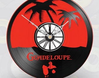 Clock shows wall vinyl Gwadeloupe Gwada Dom tom