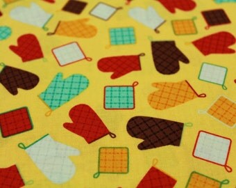 Patchwork fabric - mittens and Agarradores
