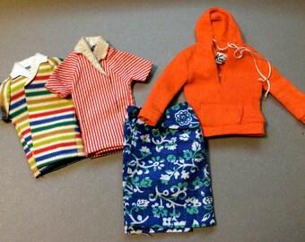 "Ken Clothes, Ken Outfits, Ken Doll Clothes, Ken Vintage Clothes, Ken Shirt, Ken Beach Clothes, 12"" Dolls, Doll Clothes, Vintage Ken Clothes"