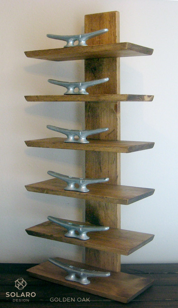 Rustic Nautical Towel Rack 6 Shelves