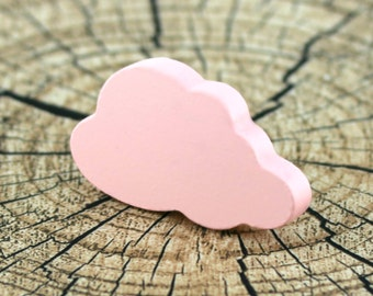 Cloud drawer knobs and pulls, Kids drawer knobs, Decorative drawer pulls, Childrens pink knobs, Cloud nursery decor, Baby girl nursery ideas