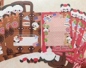 40 Die-Cut Panda Papers - Tavel Panda - Japanese Kawaii Stationery