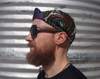 """ANNIBALE CYCLING collection - Wax print cotton cycling cap """"Mojave"""""""