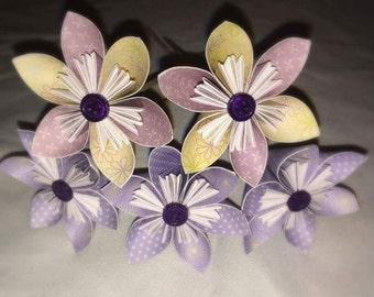 set of 5 custom stem flowers