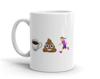 NEW!!! Coffee Poop Runner Girl Mug