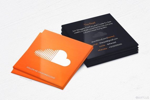 Soundcloud business cards producer design and printing like this item reheart Image collections