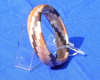 Segmented Wood Bangle