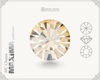 6 pc.+ SS39 (8mm) Preciosa MC Chaton MAXIMA - Crystal Honey Color