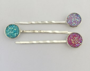 Druzy Bobby Pin Set **LIMITED**