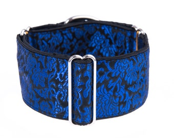 Blue martigale collar, martingale dog collar, dog collar, 2 inch martingale