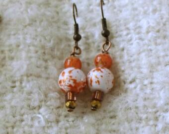 Earrings, Beaded earrings, Drop earrings, Dangle earrings, Beaded drop earrings, Bead earrings, Traditional earrings, bead dangle earrings