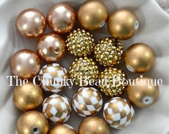 20mm gold bead assortment