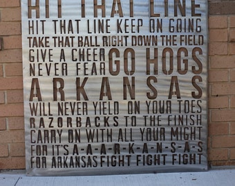 Arkansas Fight Song Sign