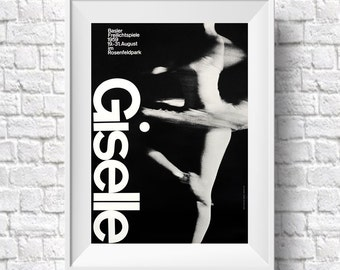 Graphic Design Wall Art Dancing Art Giselle Ballet Art Print Graphic Design by Armin Hoffman (Sizes up to 50cm x 70cm)