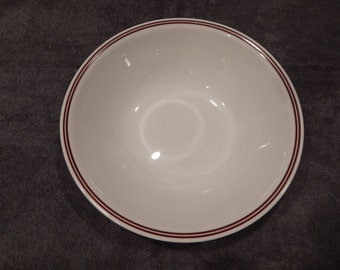Corelle Serving Bowl with Burgundy Ring
